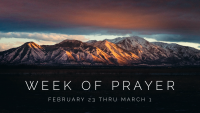 Week of Prayer - 2020